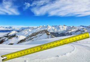 измерение горнолыжной трассы