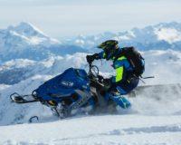 катание на снегоходе в горах