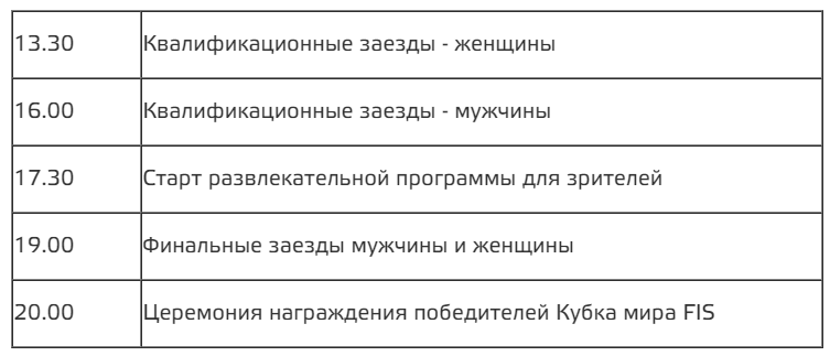 Программа мероприятия FIS