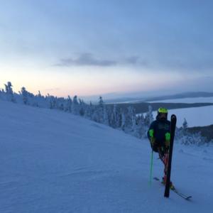 Обучение горные лыжи