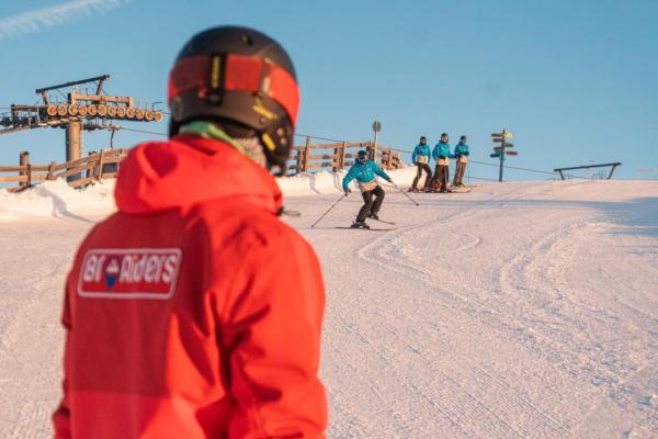горные лыжи обучение Шерегеш